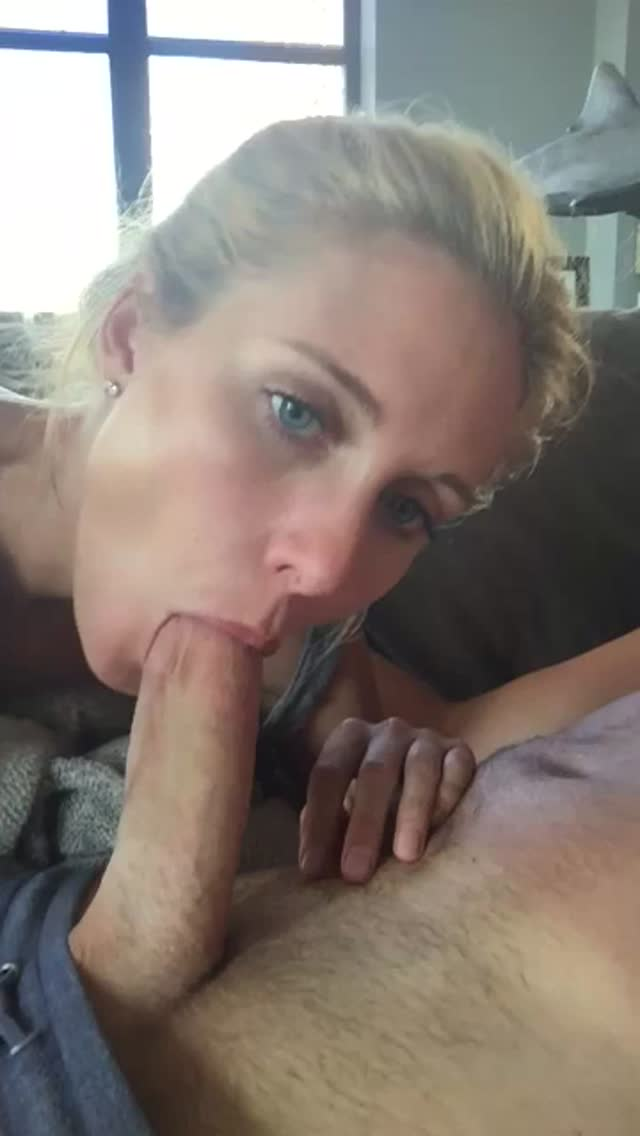 Blonde GF Blowjob POV