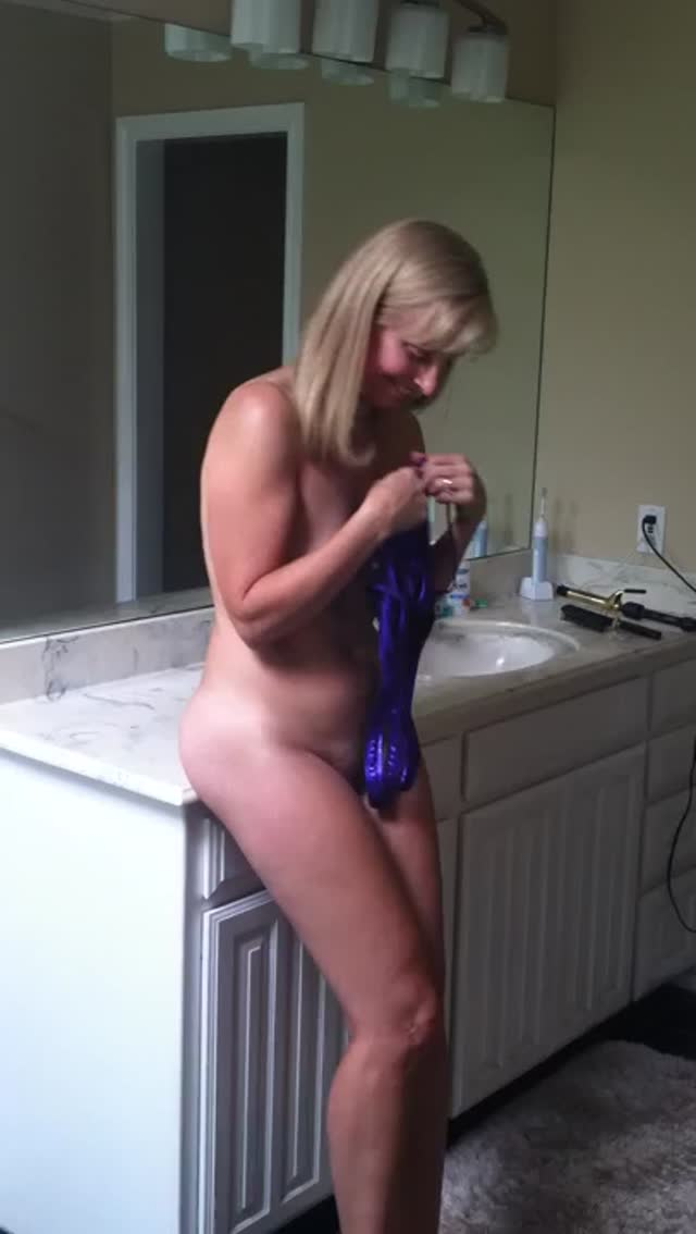 Blonde Wife in hot Outfit