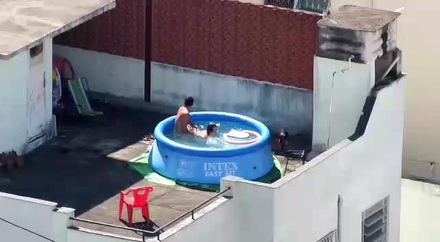 Pool Fucking Voyeur