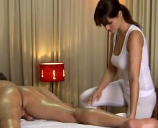 Brunette Masseuse Is Spoiling Her Lucky Customer