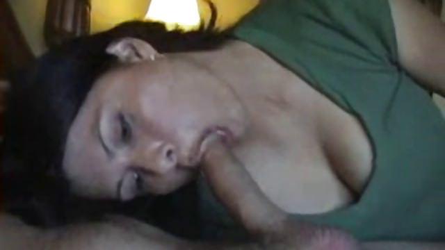 Beautiful Wife Sucks Dick and Swallows His Cum