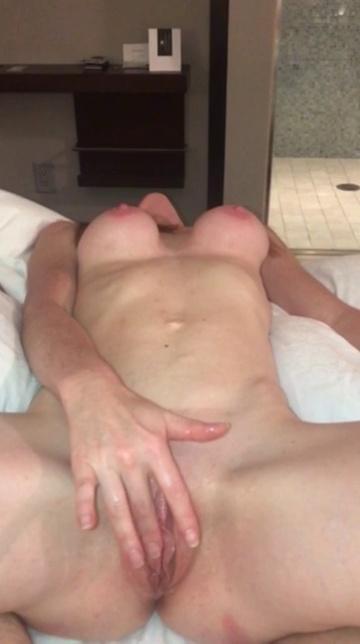 Big breasted wife masturbating