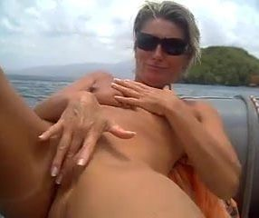 Wife masturbate on the boat