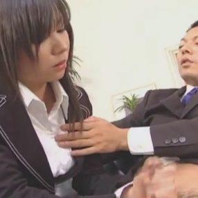 Secretary Satomi Maeno Blowjob
