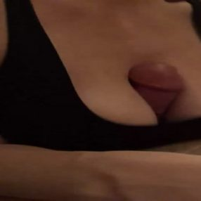 Titty fuck in bra
