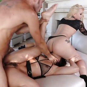 The hot gift of Abella Danger for a threesome
