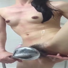 Hairy Mom in the Shower