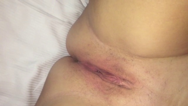 My wife playing with her body