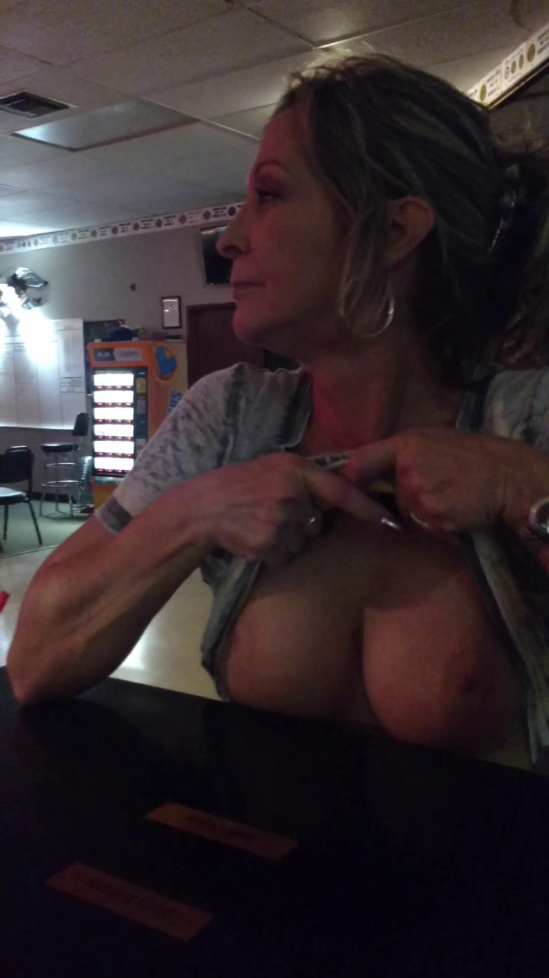 Wife Flashing Tits in Public