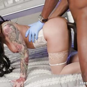 Katrina Jade fucks in the crime scene
