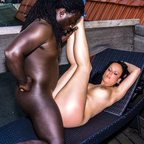 Interracial Outdoor Pleasure