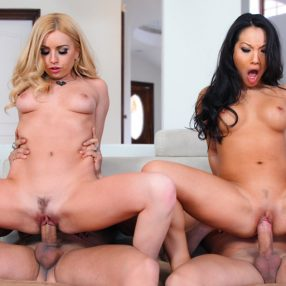 Sharing Asa Akira and Lexi Belle