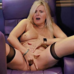 Blonde Cougar Velvet Skye Theater Vixen