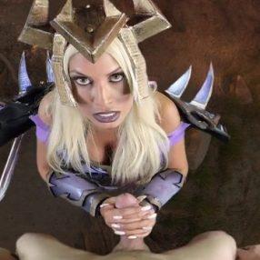 Warlock from World of Warcraft Blowjob POV