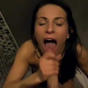 She can't get enough cum