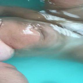 Having fun in the tub