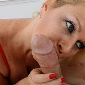 Blonde Cougar Selah Rain Blowjob and Handjob
