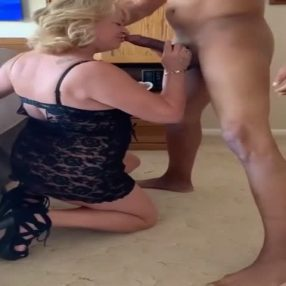 Husband Films His Wife Gives a Blowjob