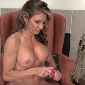 Busty Cougar Abby Wolf Solo