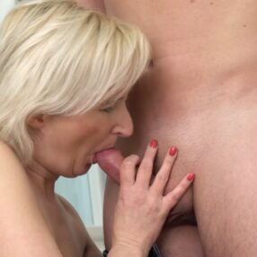Blonde Cougar Luccy Blonde Fucked by Young Lover
